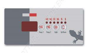 Overlay for TSC-19 Keypad (2 pumps)