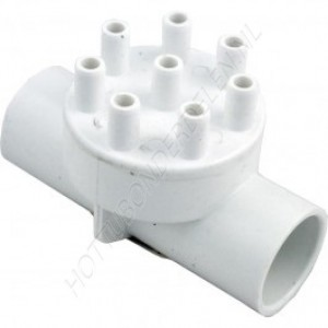 "Air Manifold 1"" S x 1"" S x (8) 3/8"" SB Waterway"