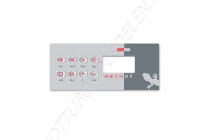 Overlay for TSC-8 Keypad (2 pumps)