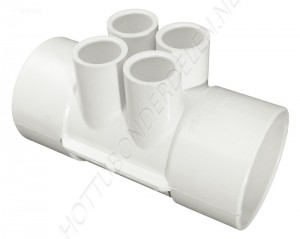 "Manifold 2"" S x 2"" S x (4) 1/2"" S Waterway"